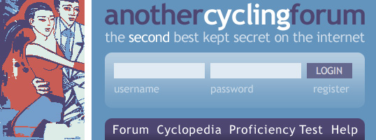 Another Cycling Forum website screenshot