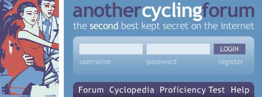 Another Cycling Forum website screenshot