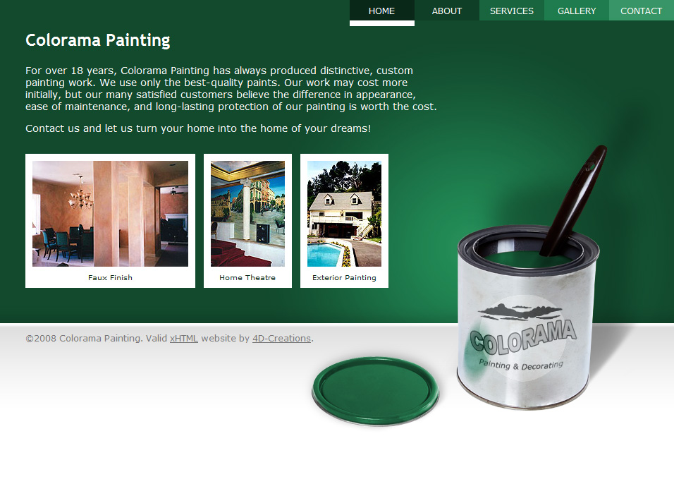 Colorama Painting website screenshot