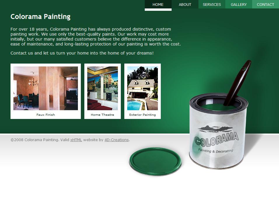 Colorama Painting website screenshot