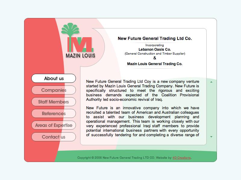 Mazin Louis website screenshot