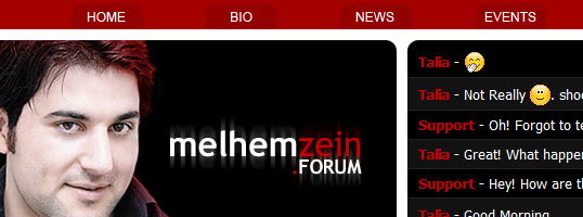 Melhem Zein SMF theme screenshot