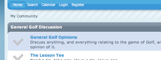 Used Golf Shop SMF theme screenshot