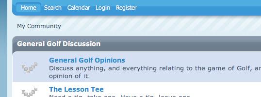 Used Golf Shop SMF theme screenshot